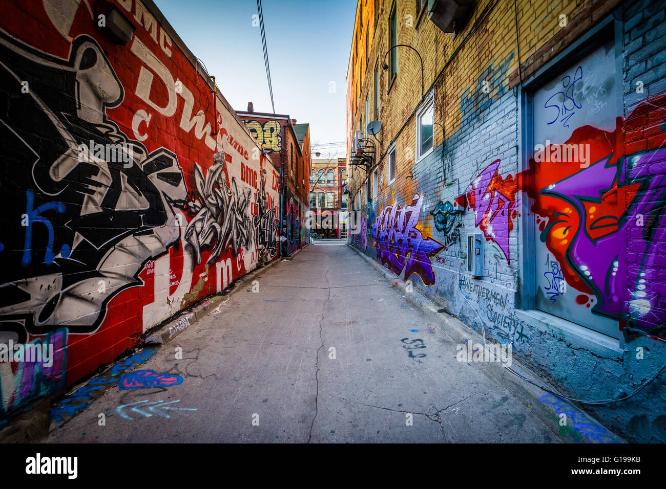 Graffiti wall toronto downtown - Street Art In Graffiti Alley In The Fashion District Of Toronto Ontario