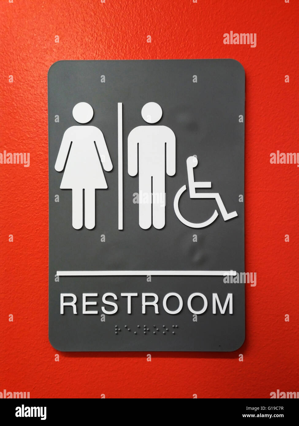Bathroom Signs Nyc unisex bathroom sign in new york on friday, may 6, 2016