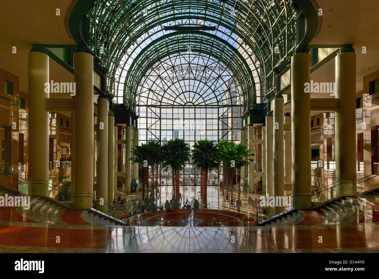 new york city april 16 2016 the winter garden a part of the