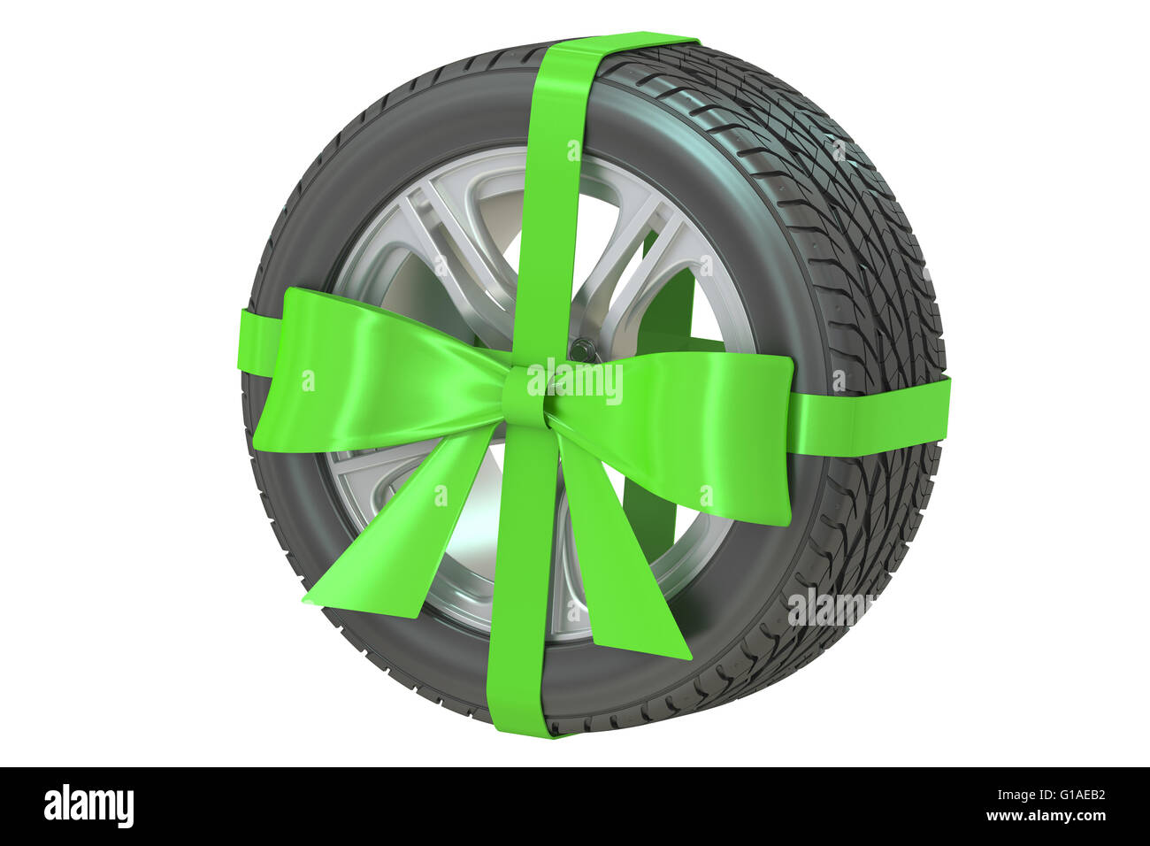 Discount tire stock photos discount tire stock images alamy tyre with bow and ribbon 3d rendering isolated on white background stock image buycottarizona