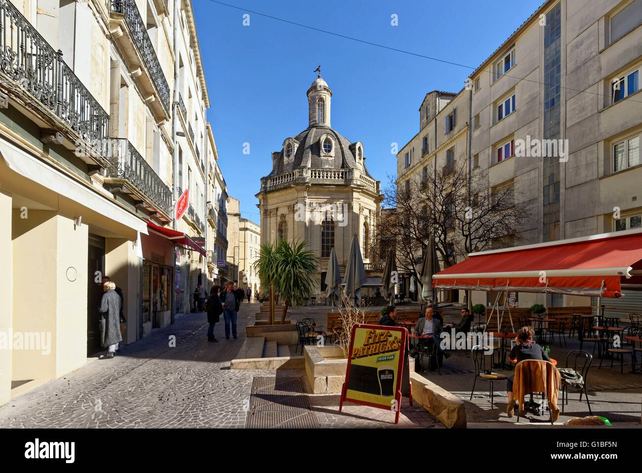 france herault montpellier historical center the ecusson place stock photo royalty free. Black Bedroom Furniture Sets. Home Design Ideas