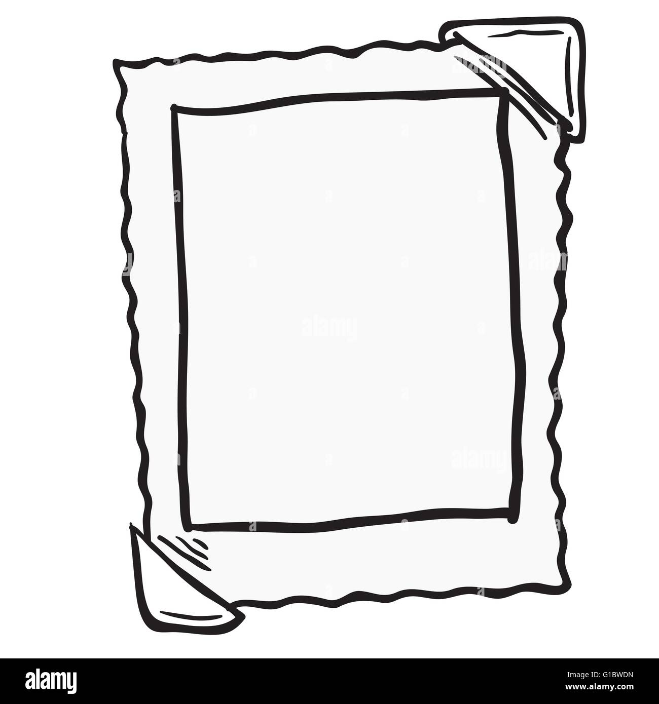 empty photo frame cartoon doodle - Empty Picture Frame