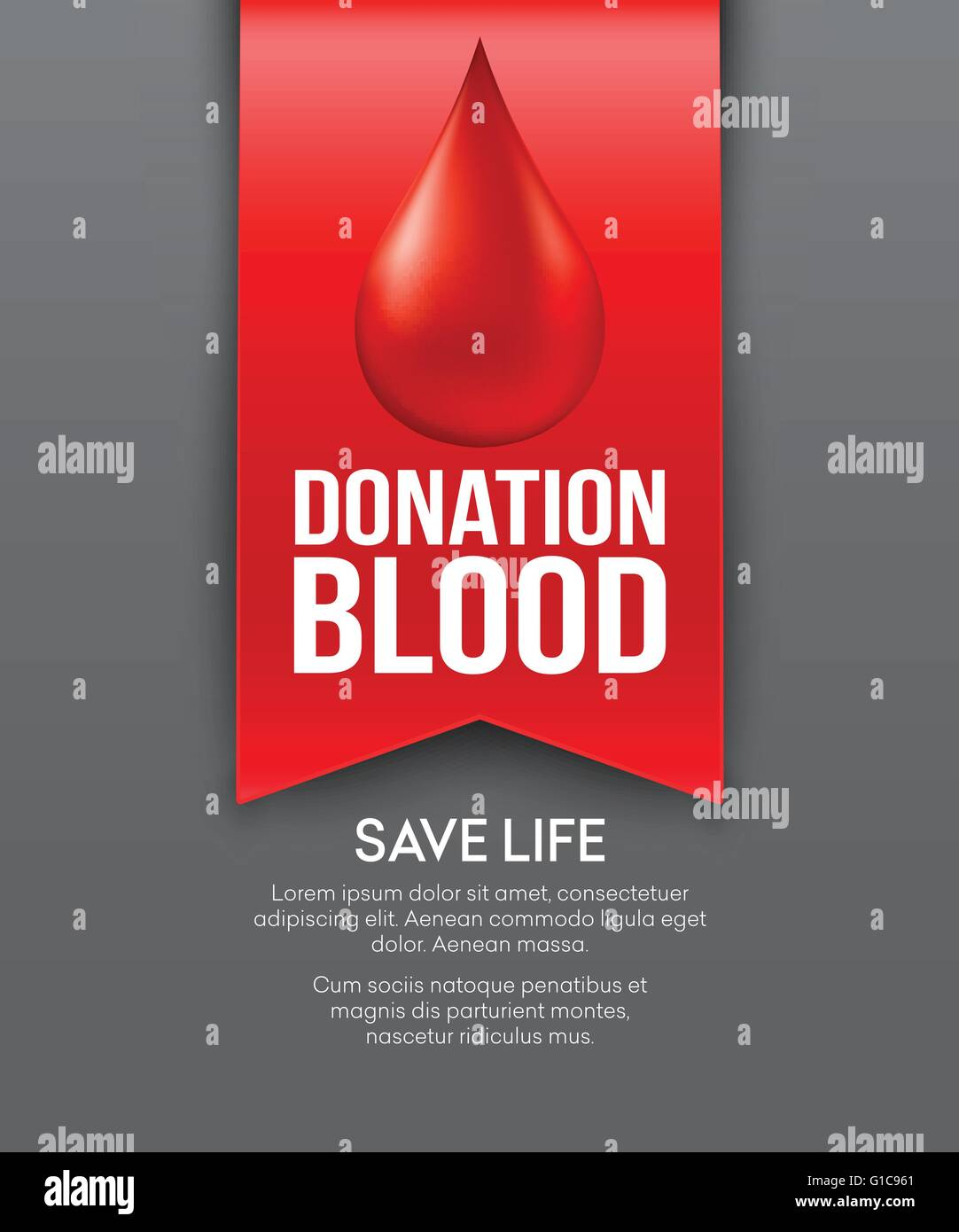Poster design on blood donation - Donate Blood Poster Design Vector Illustration