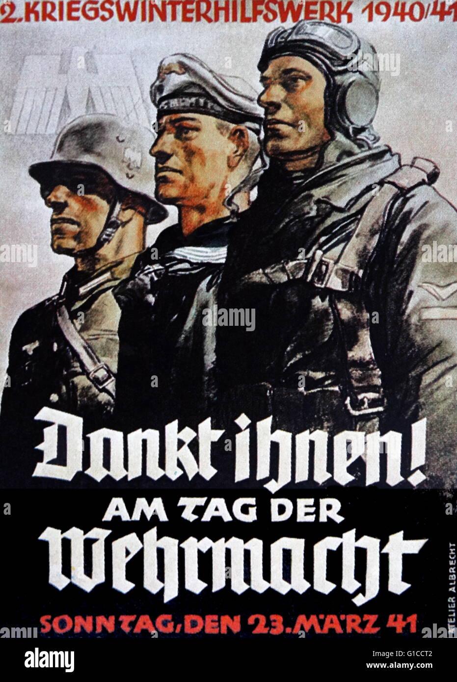 Second world war German propaganda poster. Dated 1943 ...
