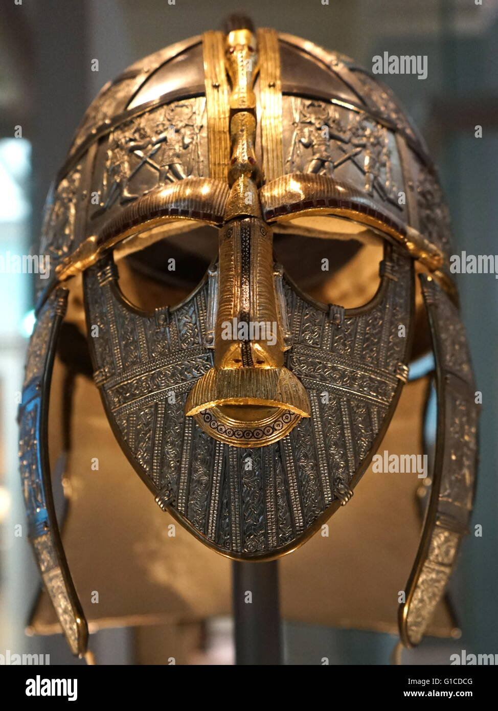 Reconstructed sutton hoo helmet which was part of the for The sutton