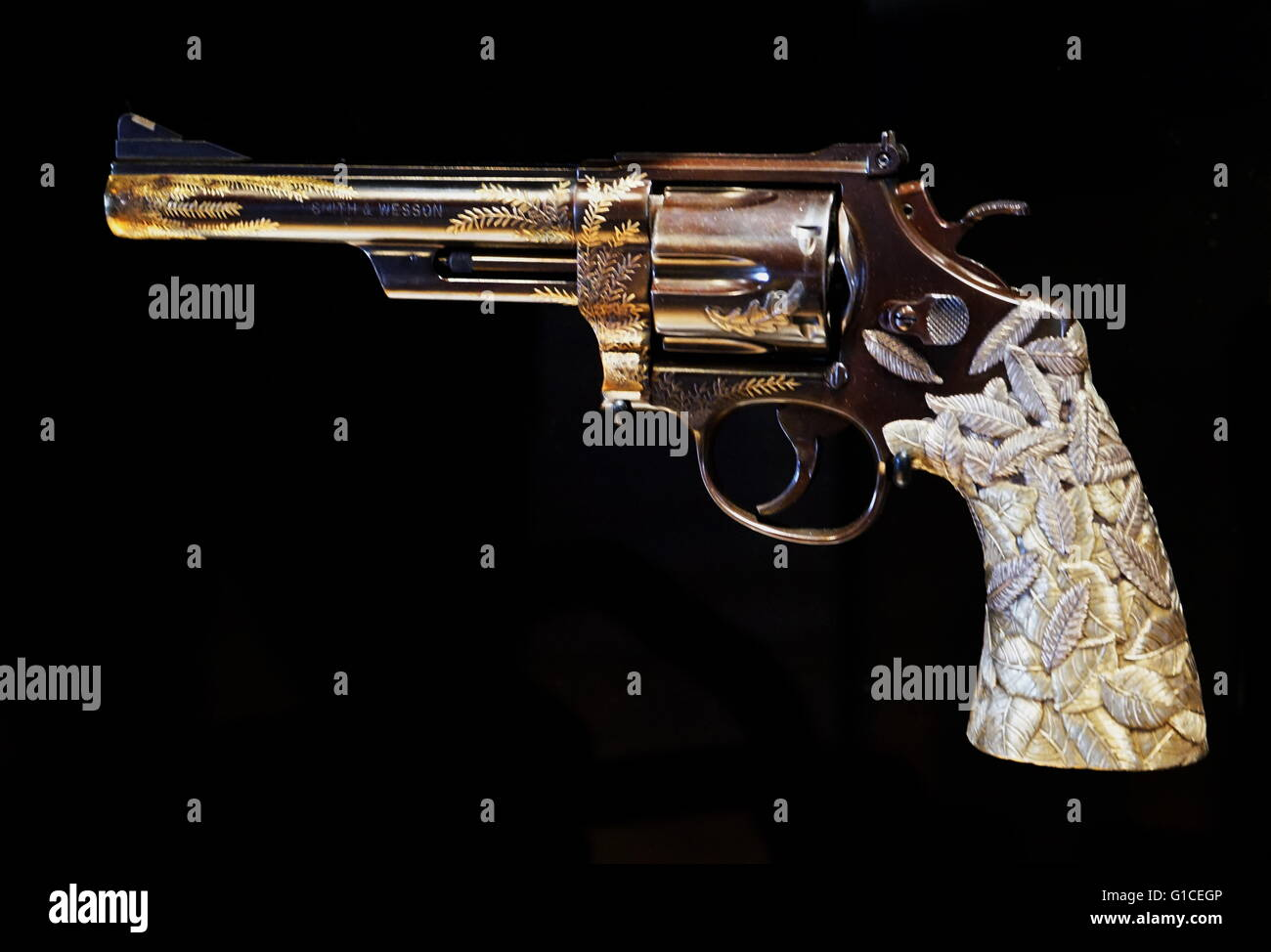 The Jewelled Revolver A .357 Magnum With Red Gold, Red ...
