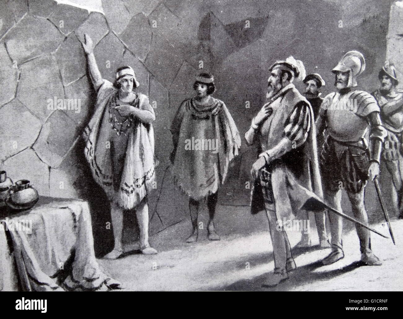 the arrest of atahualpa last inca ruler by francisco