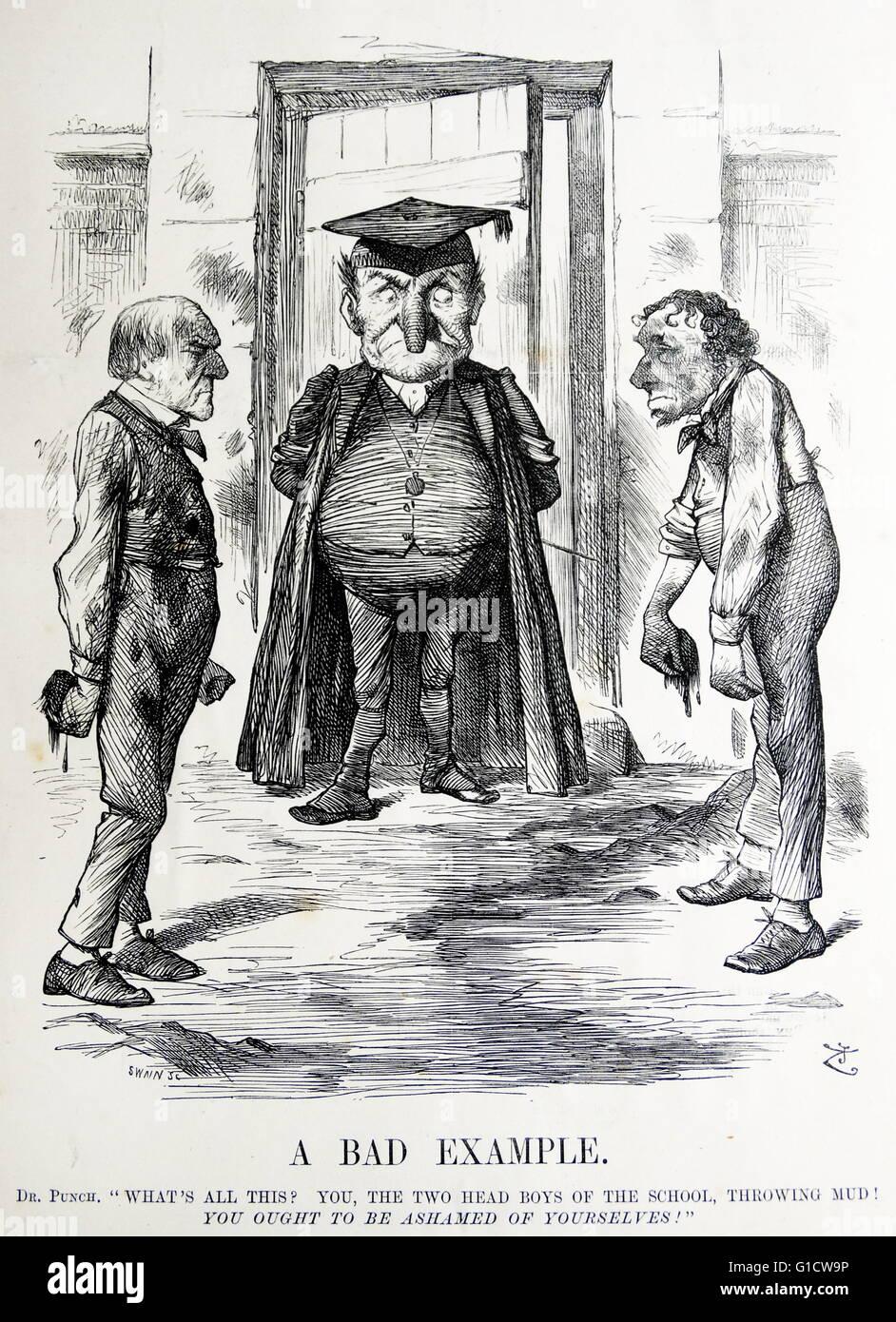 Political satire depicting william ewart gladstone 1809 1898 and political satire depicting william ewart gladstone 1809 1898 and benjamin disraeli 1804 1881 both former prime minister of britain sciox Choice Image