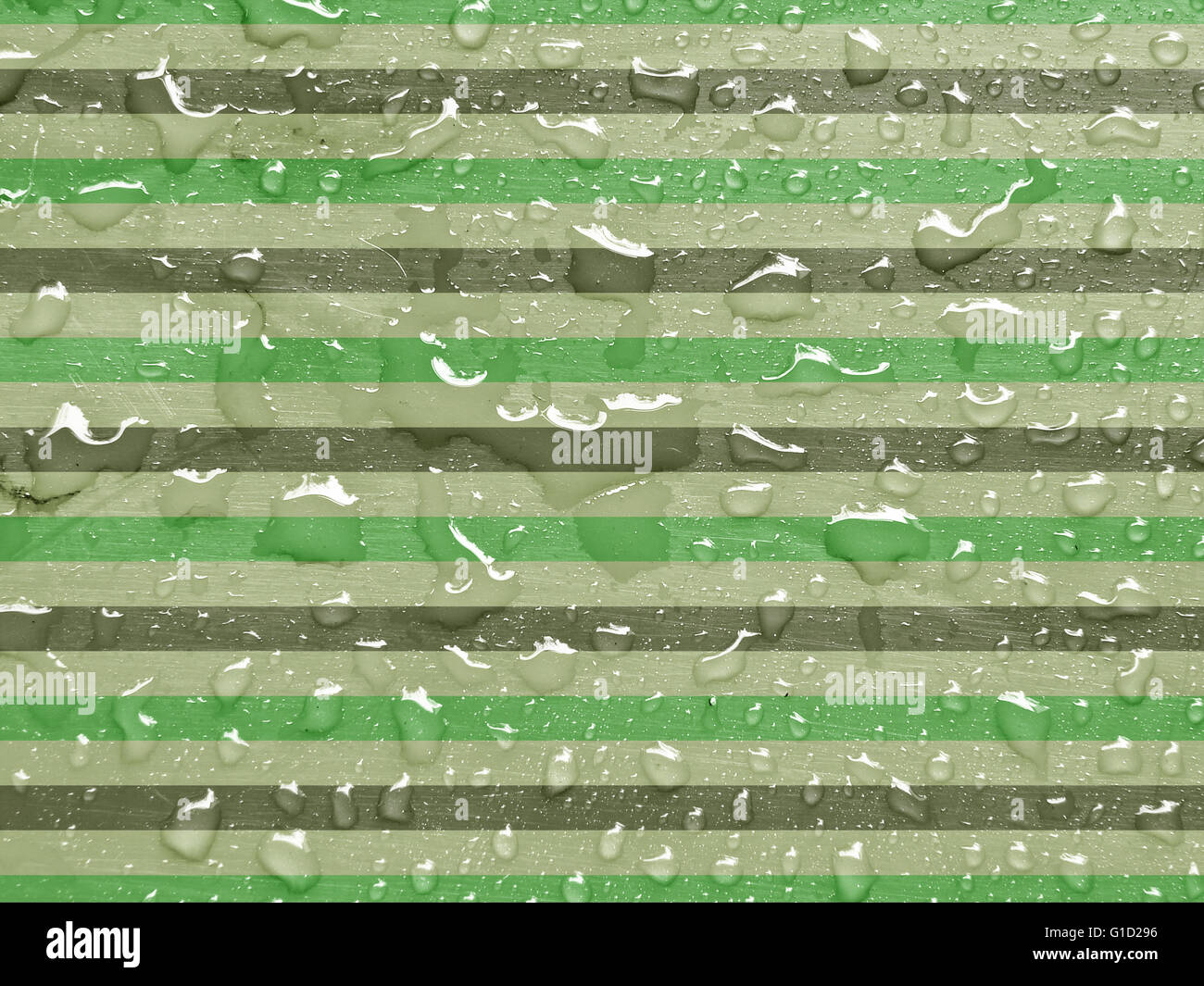 water drops on green gray metallic surface stock photo royalty