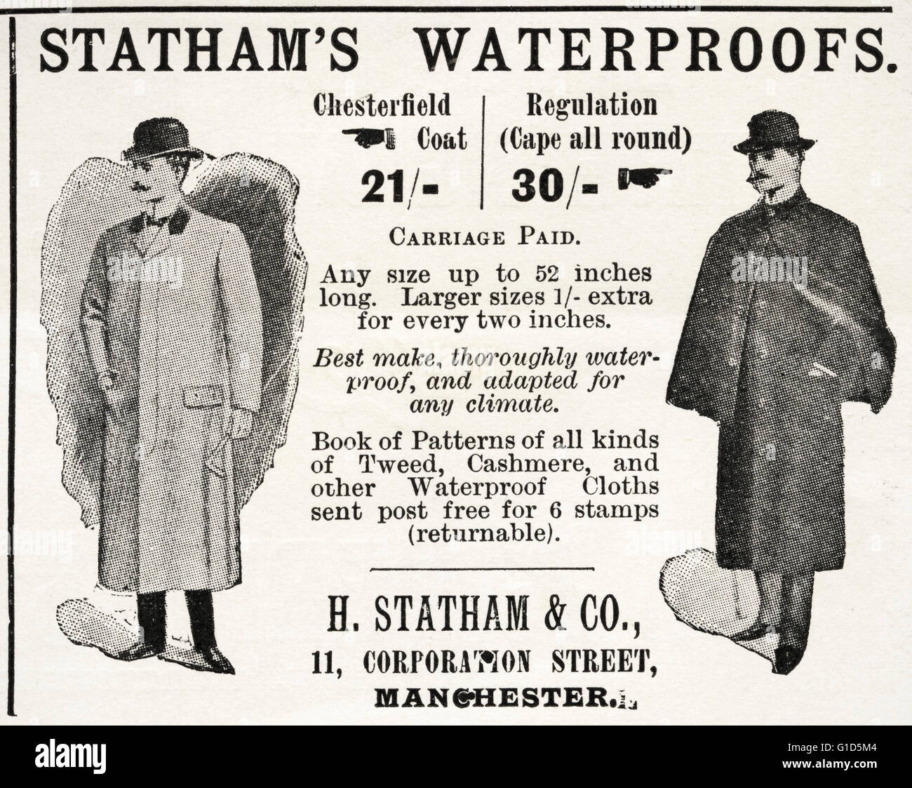 original old vintage magazine advert from the late victorian era