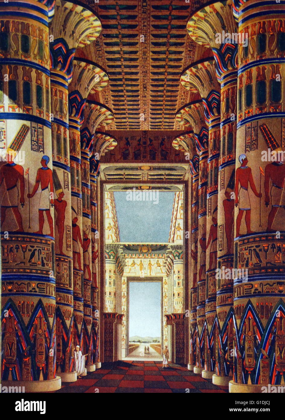 Amun Re Photographic Arts: The Great Hypostyle Hall Of Karnak, Located Within The
