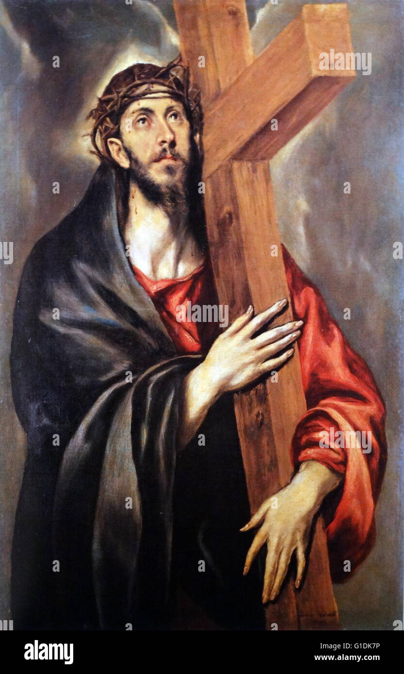 Jesus Carrying The Cross Painting Jesus Carrying The Cro...