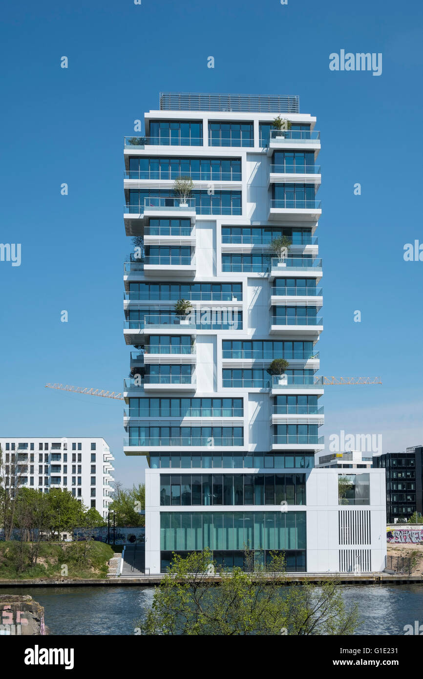 New Luxury High Rise Apartment Building Built Beside Berlin Wall On Stock Photo Royalty Free