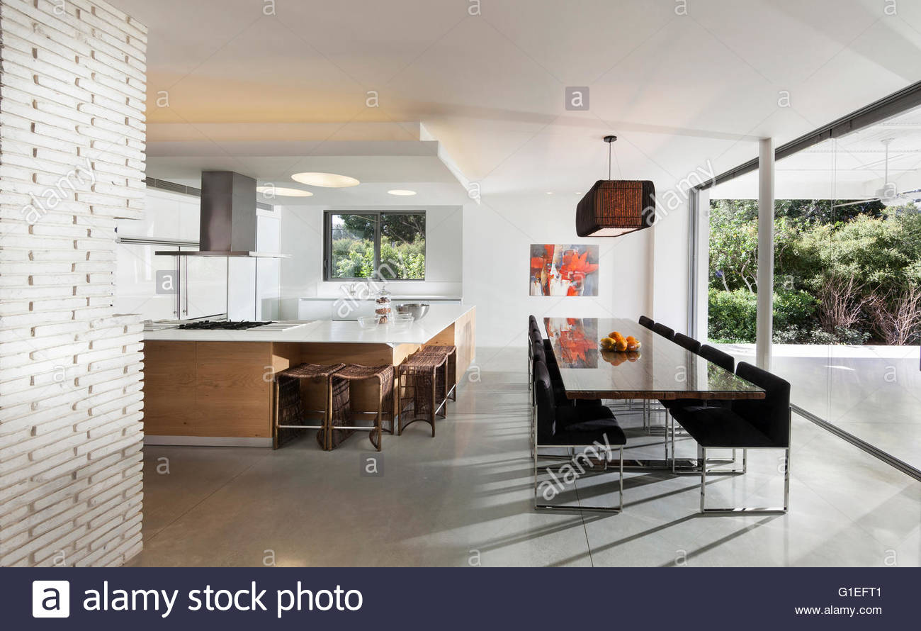 White villa tel aviv open plan modern living room and for Contemporary open plan kitchen living room