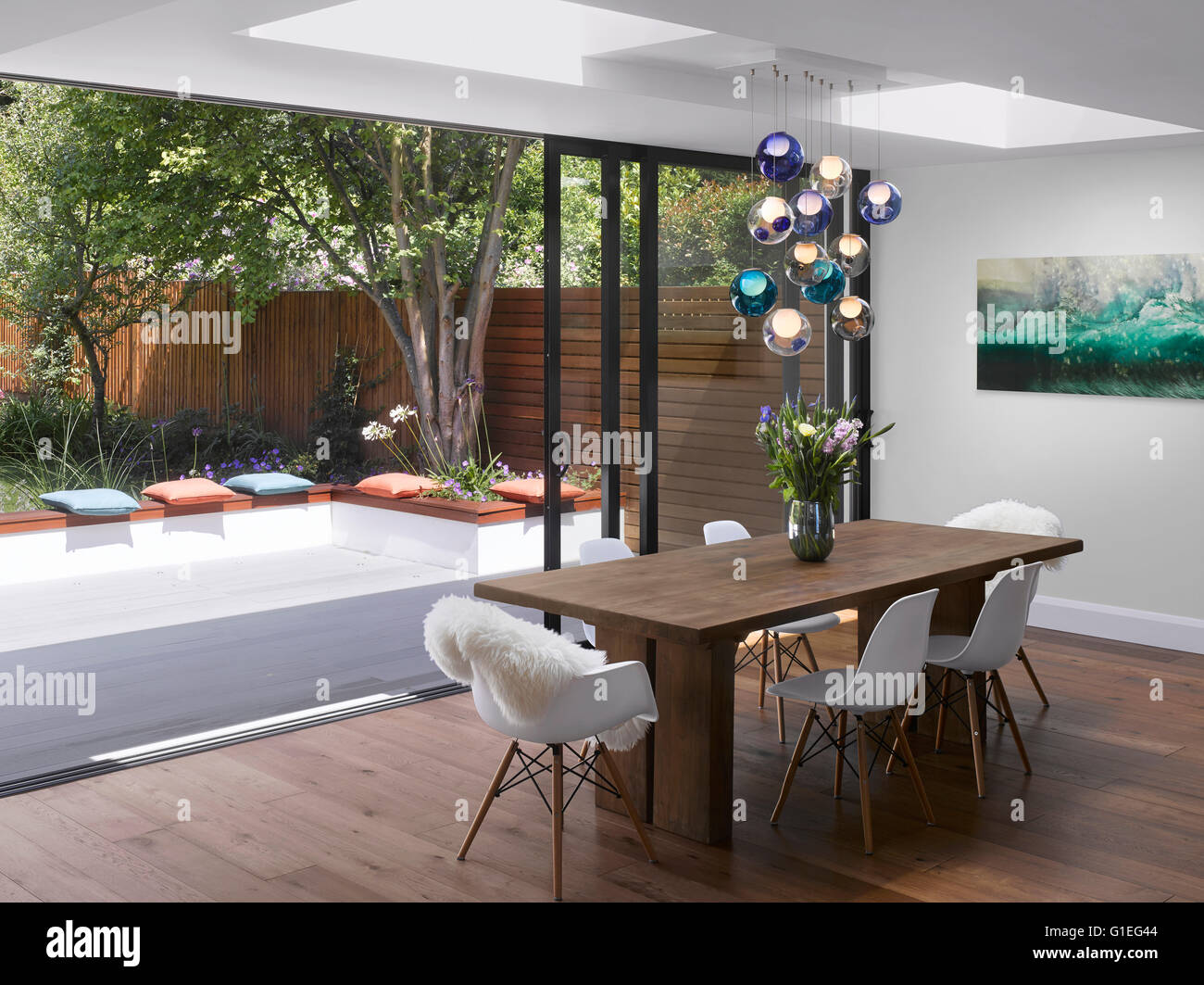 Single Storey Extension, Mincheon Road, London. Open Plan Dining Room With  Sliding Glass Part 53