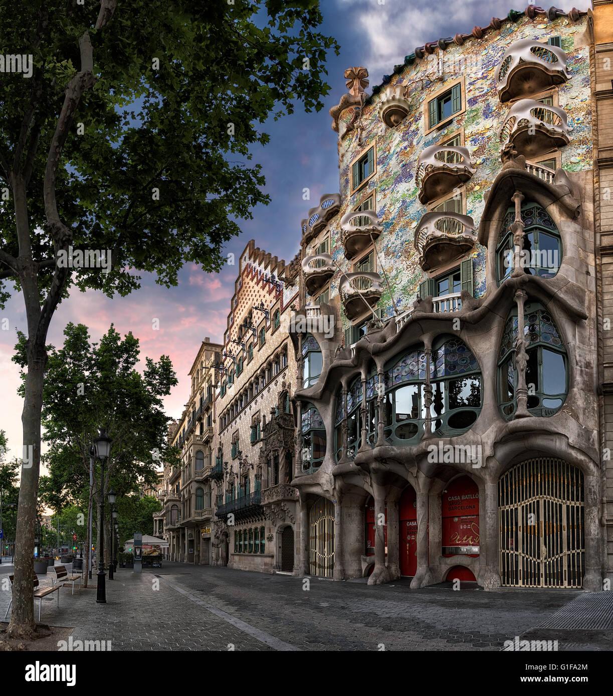 casa batllo unesco world heritage site barcelona catalonia spain