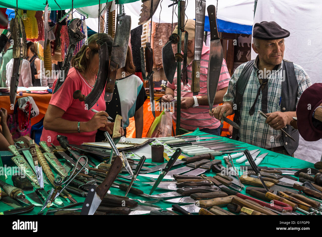 Knives Stall Feria De Mataderos Buenos Aires Argentina
