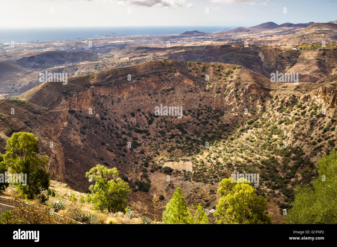 Caldera de Bandama, volcanic crater on the island of Gran ...