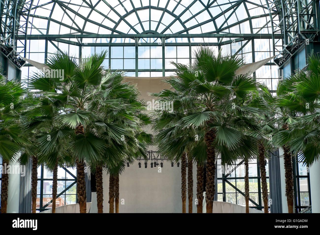 winter garden atrium in brookfield place in downtown manhattan new