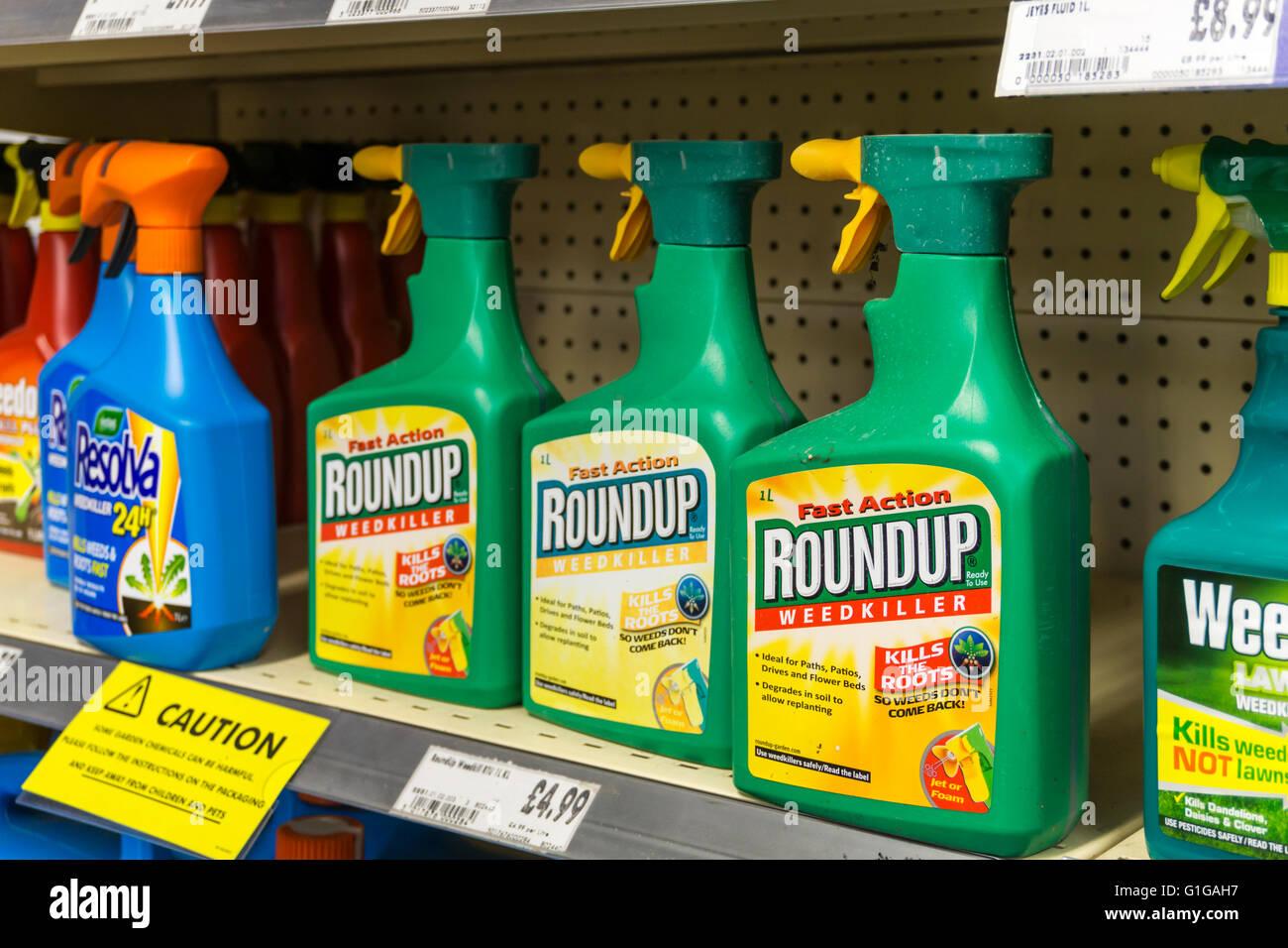 Spray Bottles Of Roundup Weedkiller