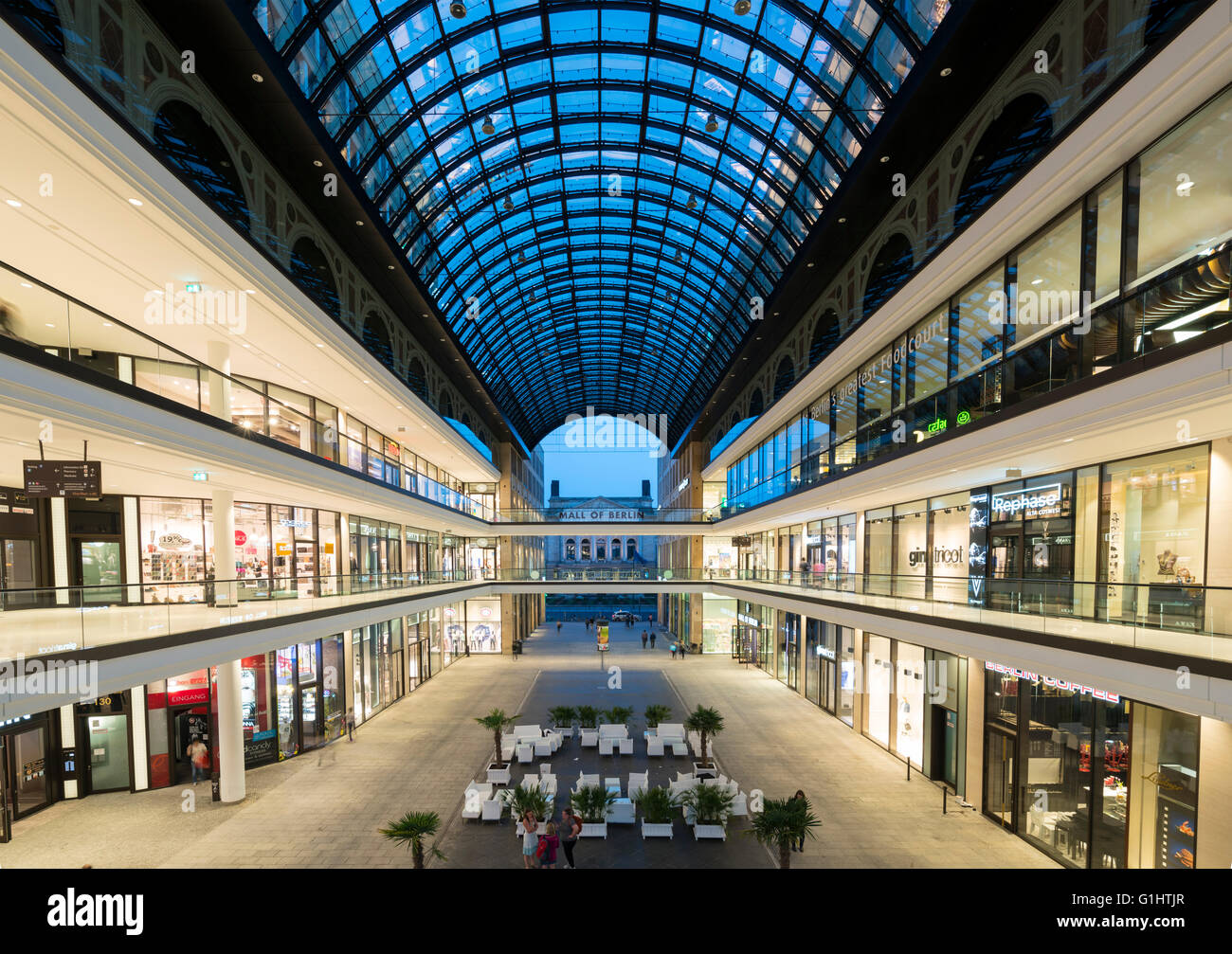 view of new mall of berlin shopping mall in potsdamer platz berlin stock photo royalty free. Black Bedroom Furniture Sets. Home Design Ideas