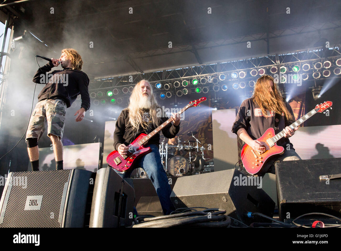 Somerset, Wisconsin, USA. 14th May, 2016. RANDY BLYTHE, JOHN ... for Lamb Of God Live 2016  76uhy
