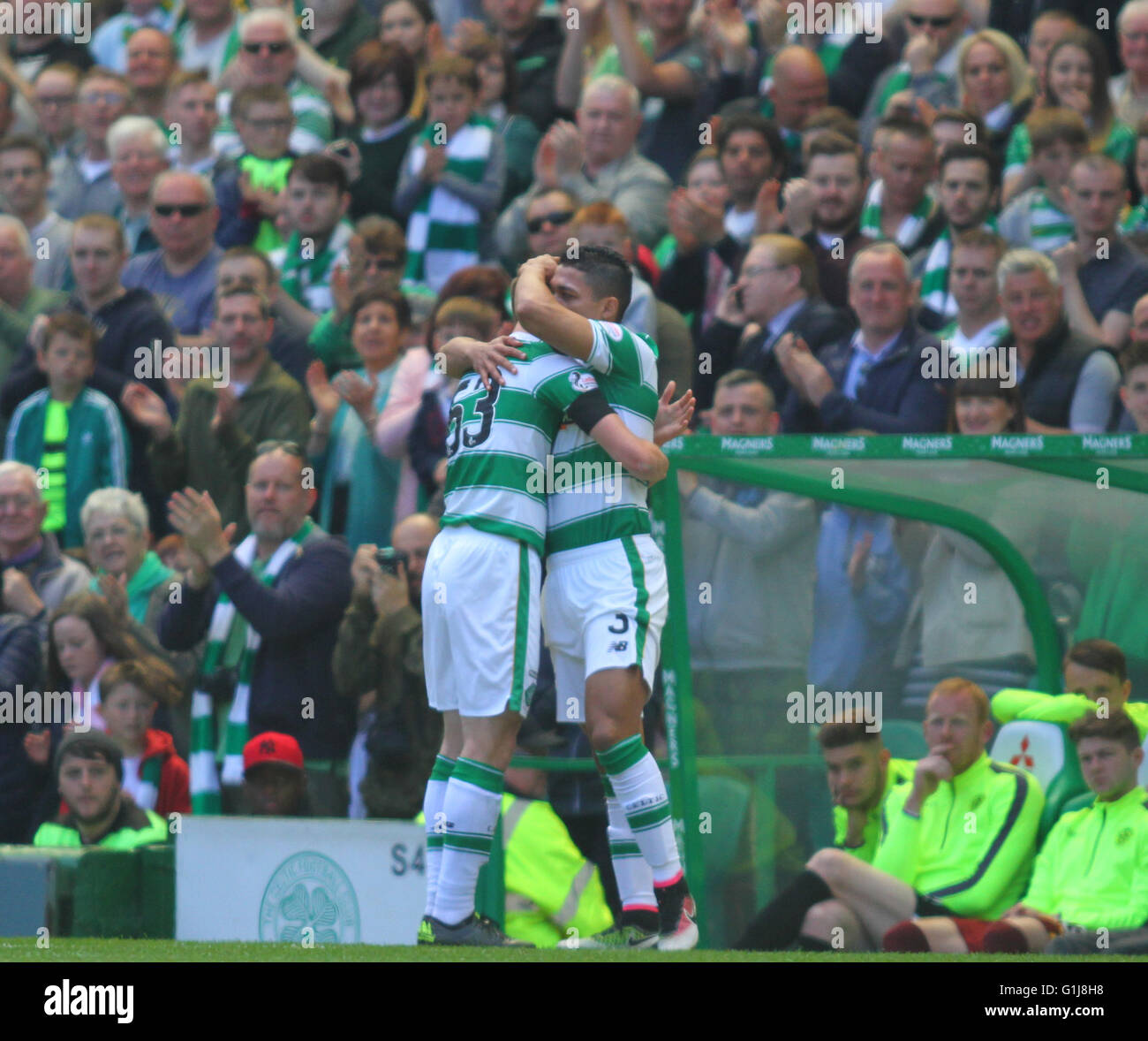 Celtic Park Glasgow Scotland 15th 2016 Scottish Premier Motherwell Kieran