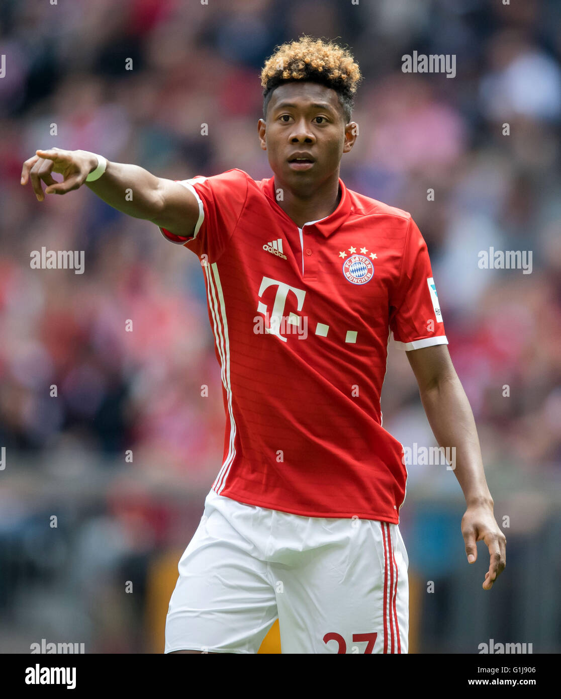 Munich s David Alaba in action during the German Bundesliga soccer
