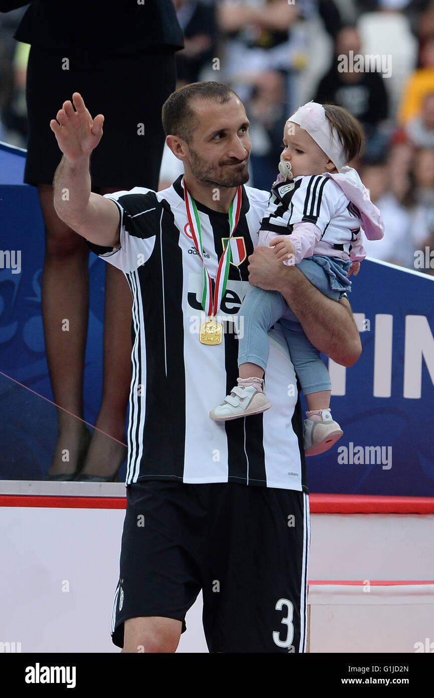 Turin Italy 14th May 2016 Giorgio Chiellini Juventus Stock