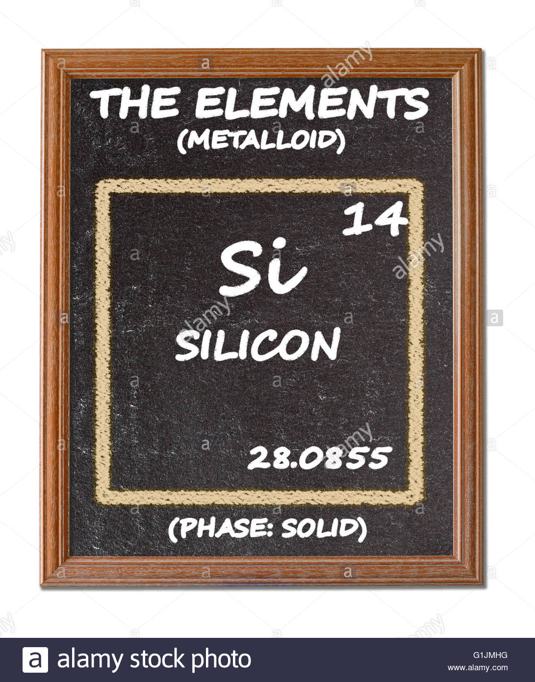 Silicon details from the periodic table stock photo royalty silicon details from the periodic table gamestrikefo Gallery