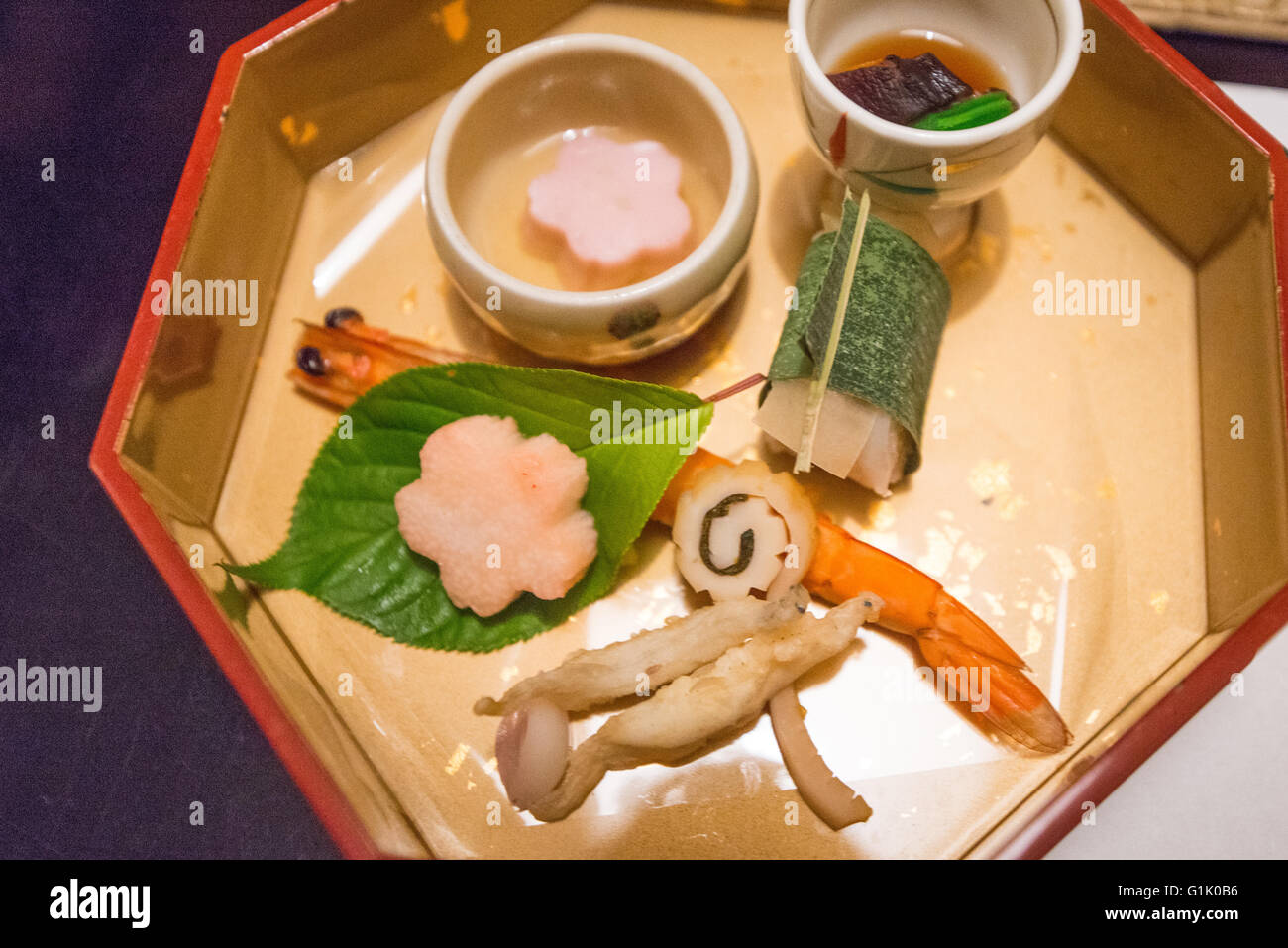Decorative Japanese food design in a box