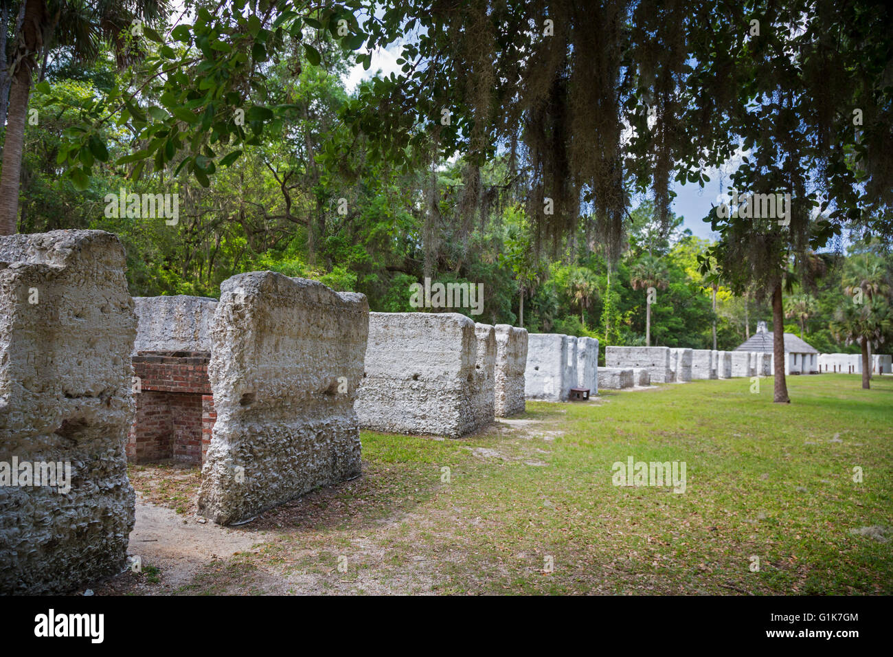 Jacksonville, Florida - The remains of slave quarters at ...