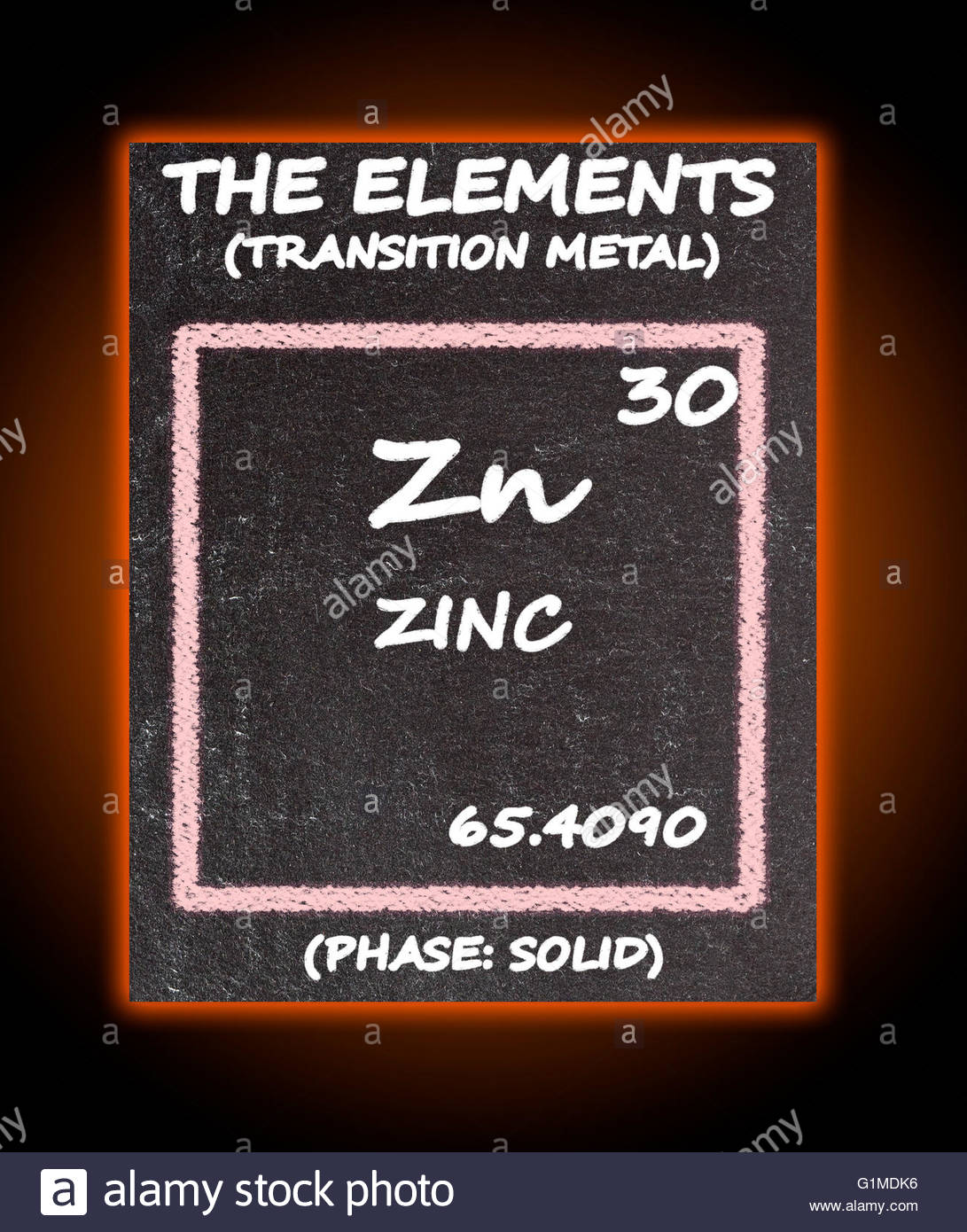 Zinc details from the periodic table stock photo royalty free stock photo zinc details from the periodic table gamestrikefo Image collections