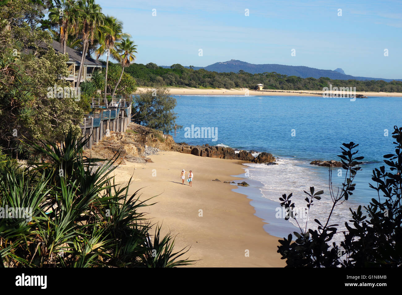 People On The Beach At Little Bay Noosa Shire Sunshine