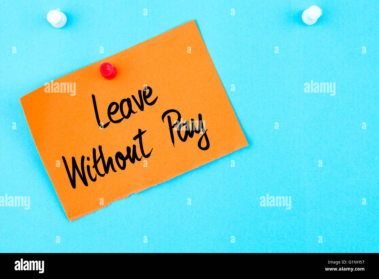 write application leave without pay