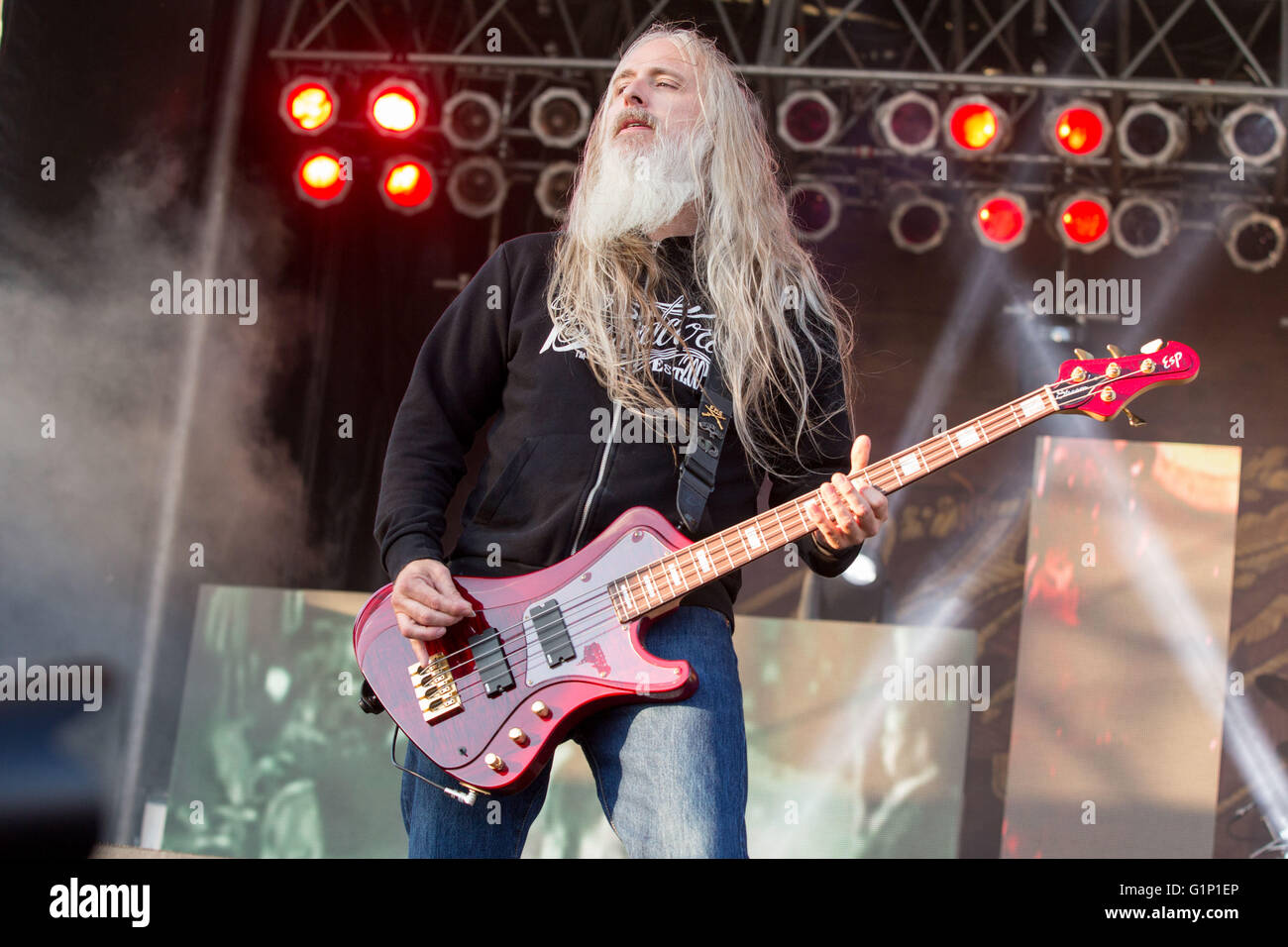 May 14, 2016 - Somerset, Wisconsin, U.S - Bassist JOHN CAMPBELL of ... for Lamb Of God Live 2016  45jwn