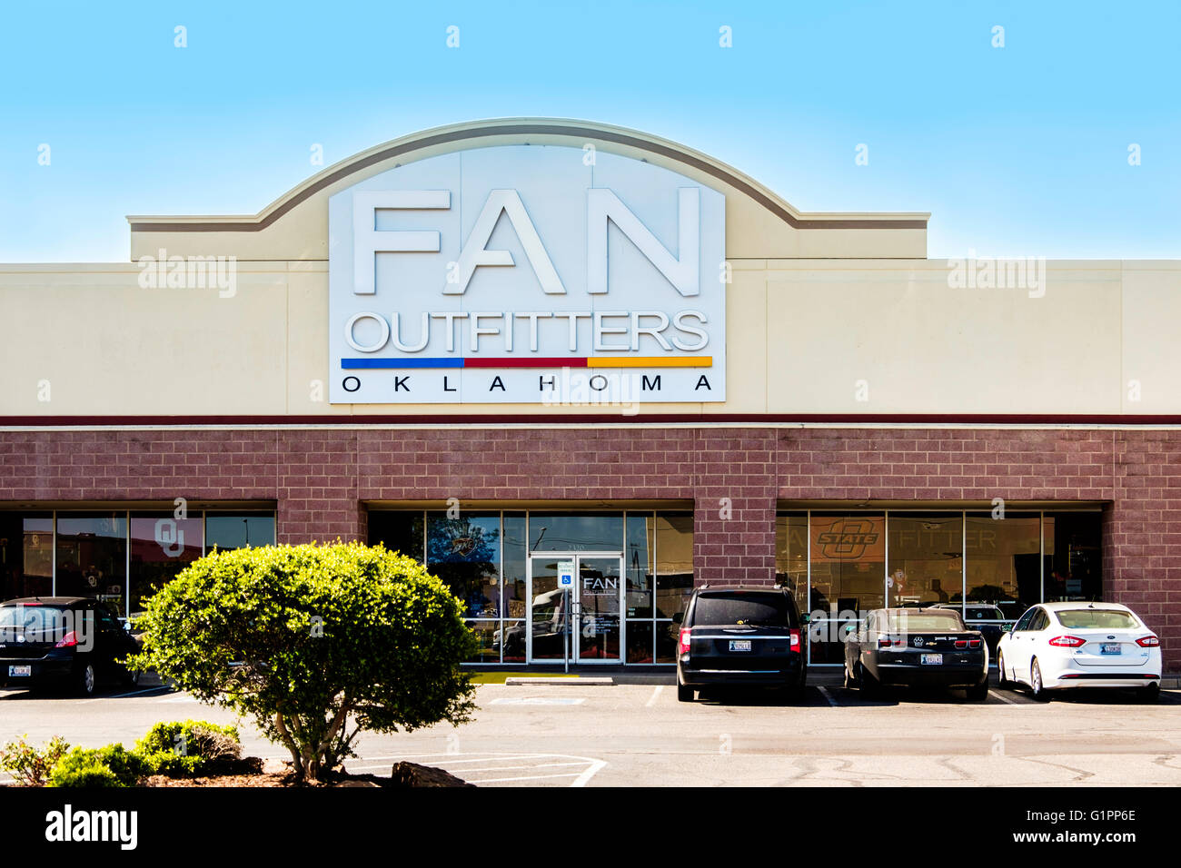 fan outfitters. stock photo - the exterior of fan outfitters, a shop selling jerseys and sportswear for fan. oklahoma city, oklahoma, usa outfitters t