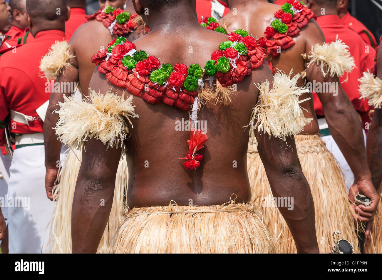 Fijian Dancers At Royal Windsor Horse Show Home Park Berkshire England United Kingdom