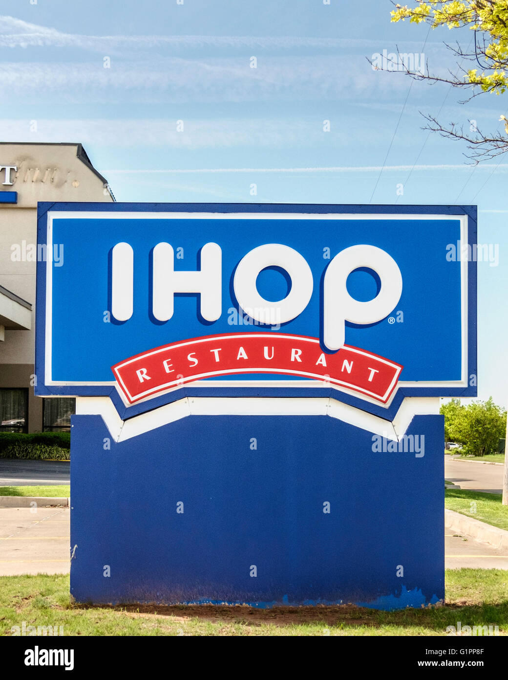A Monument Sign Advertising Ihop Restaurant In Oklahoma City Stock ...