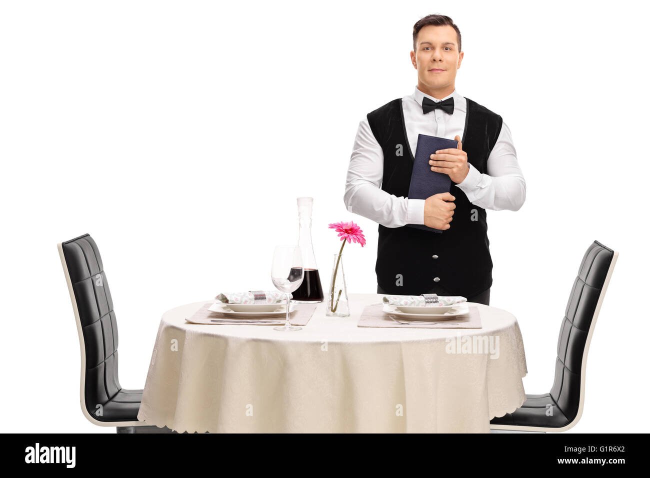 Young restaurant waiter