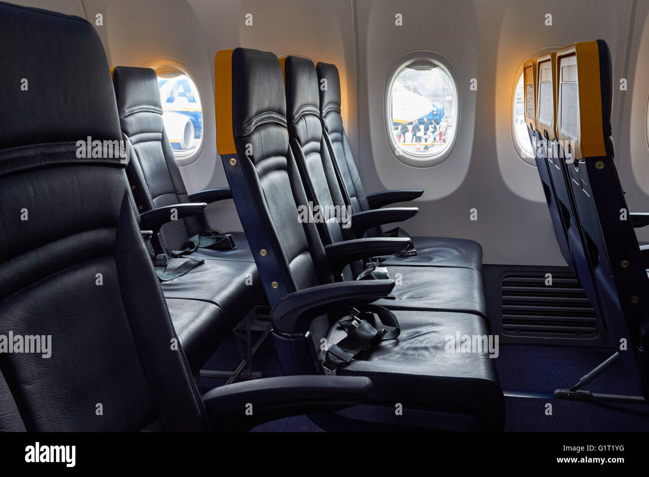 Boeing 737 800 aircraft inside image - Interior Of An Empty Ryanair Boeing 737 800 Plane