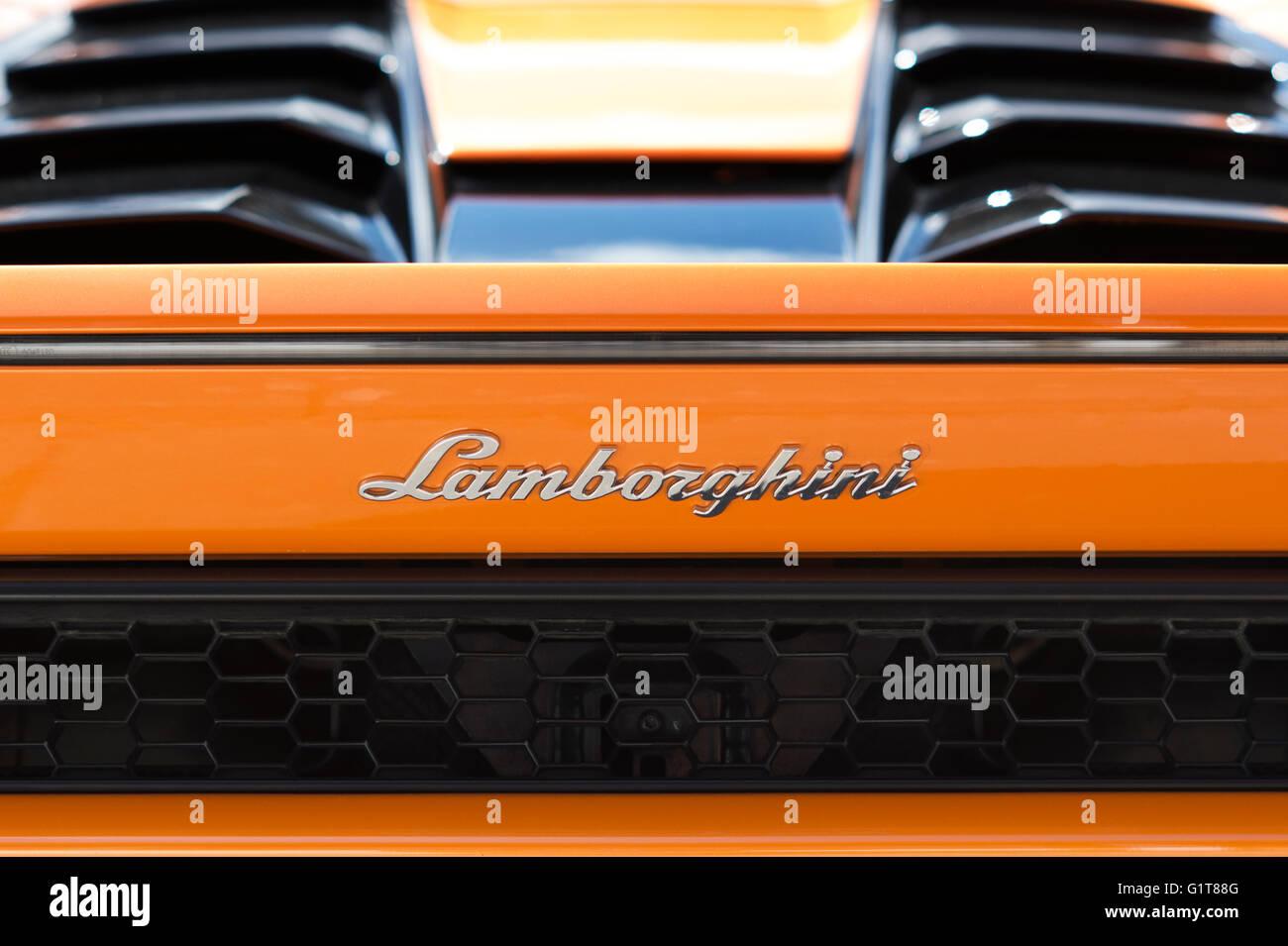 Lamborghini Car Rear End Abstract. Italian Super Car