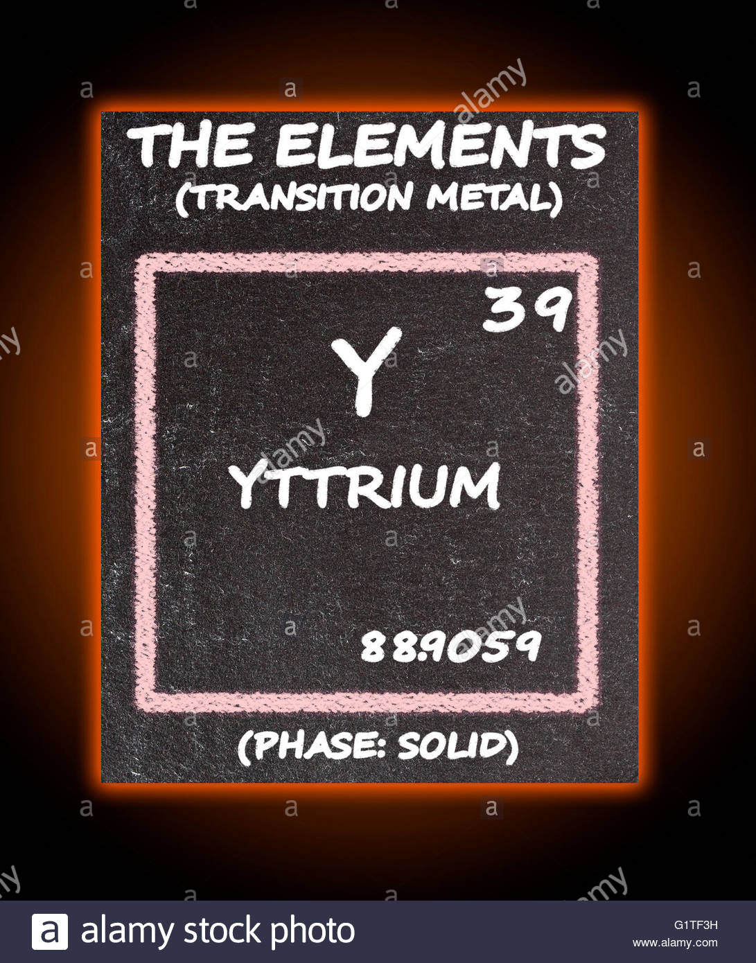 Yttrium details from the periodic table stock photo 104415573 alamy yttrium details from the periodic table urtaz Images