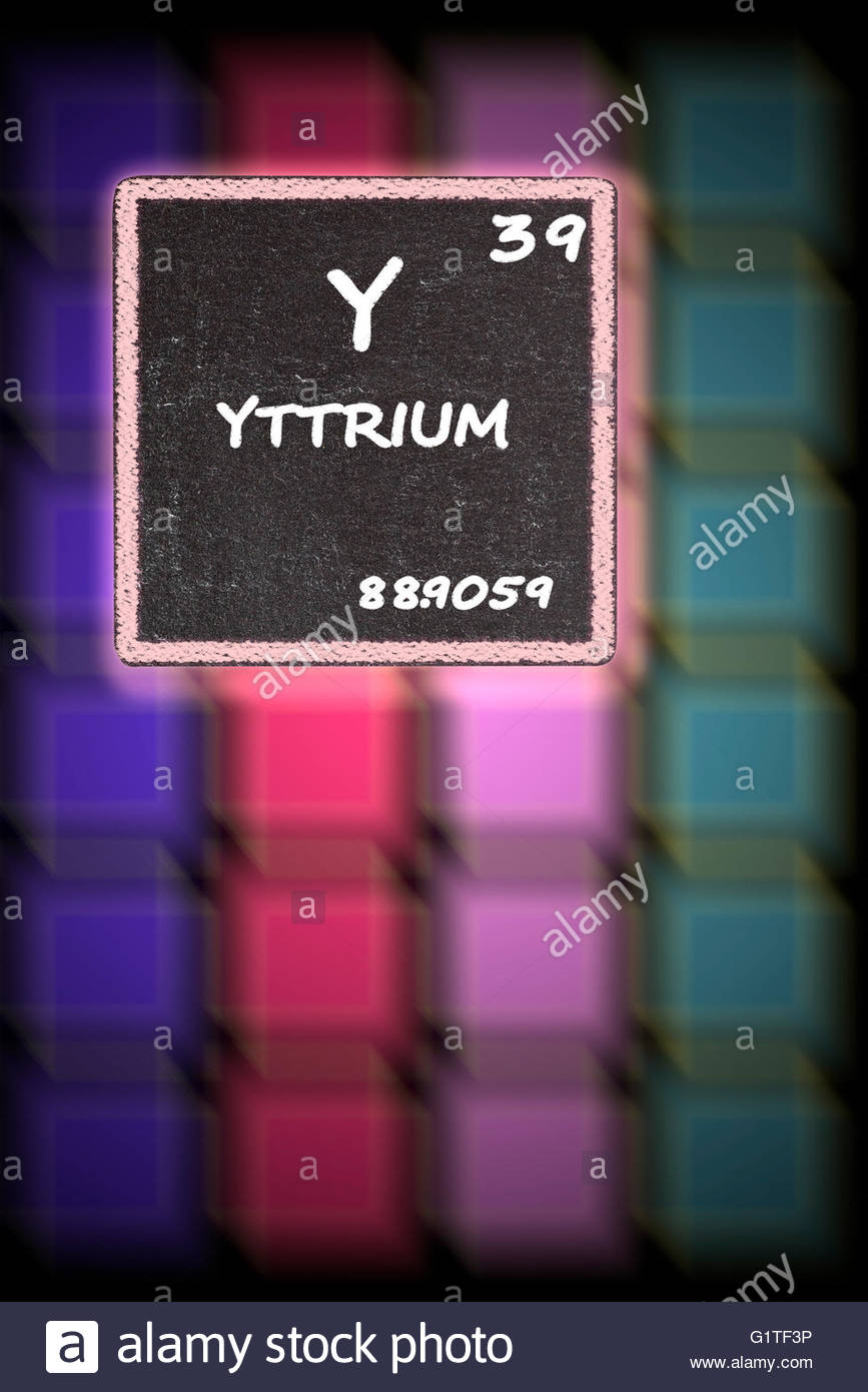 Yttrium details from the periodic table stock photo royalty free yttrium details from the periodic table urtaz Images