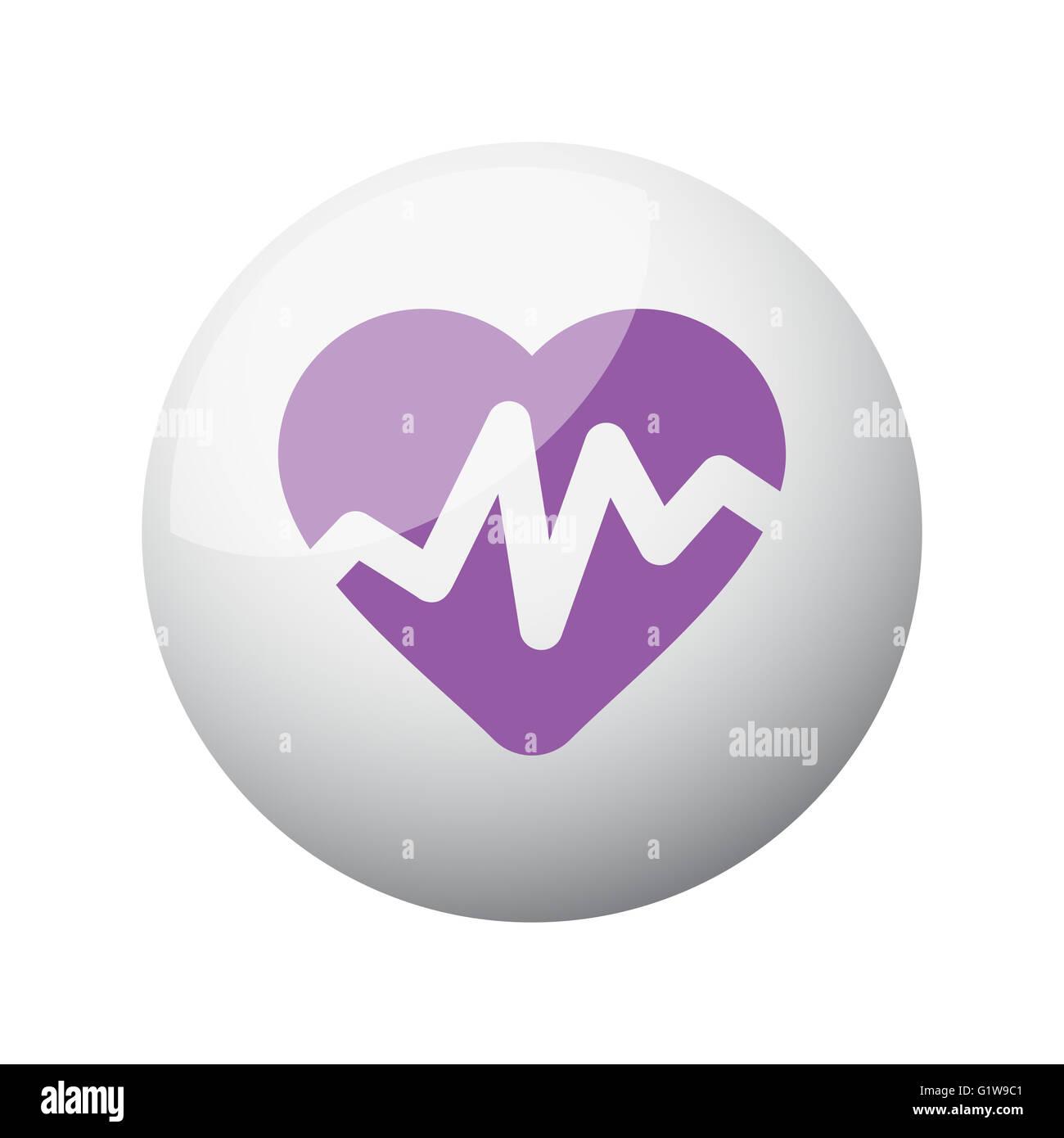 Flat purple heart rate pulse icon on 3d sphere stock photo flat purple heart rate pulse icon on 3d sphere buycottarizona