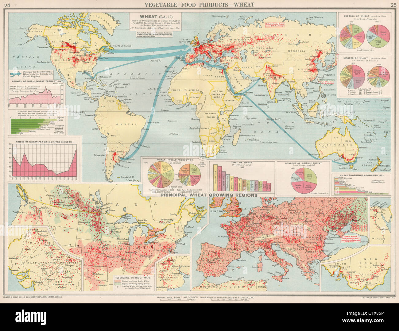 World food production wheat united states europe argentina food production wheat united states europe argentina canada 1925 map sciox Image collections