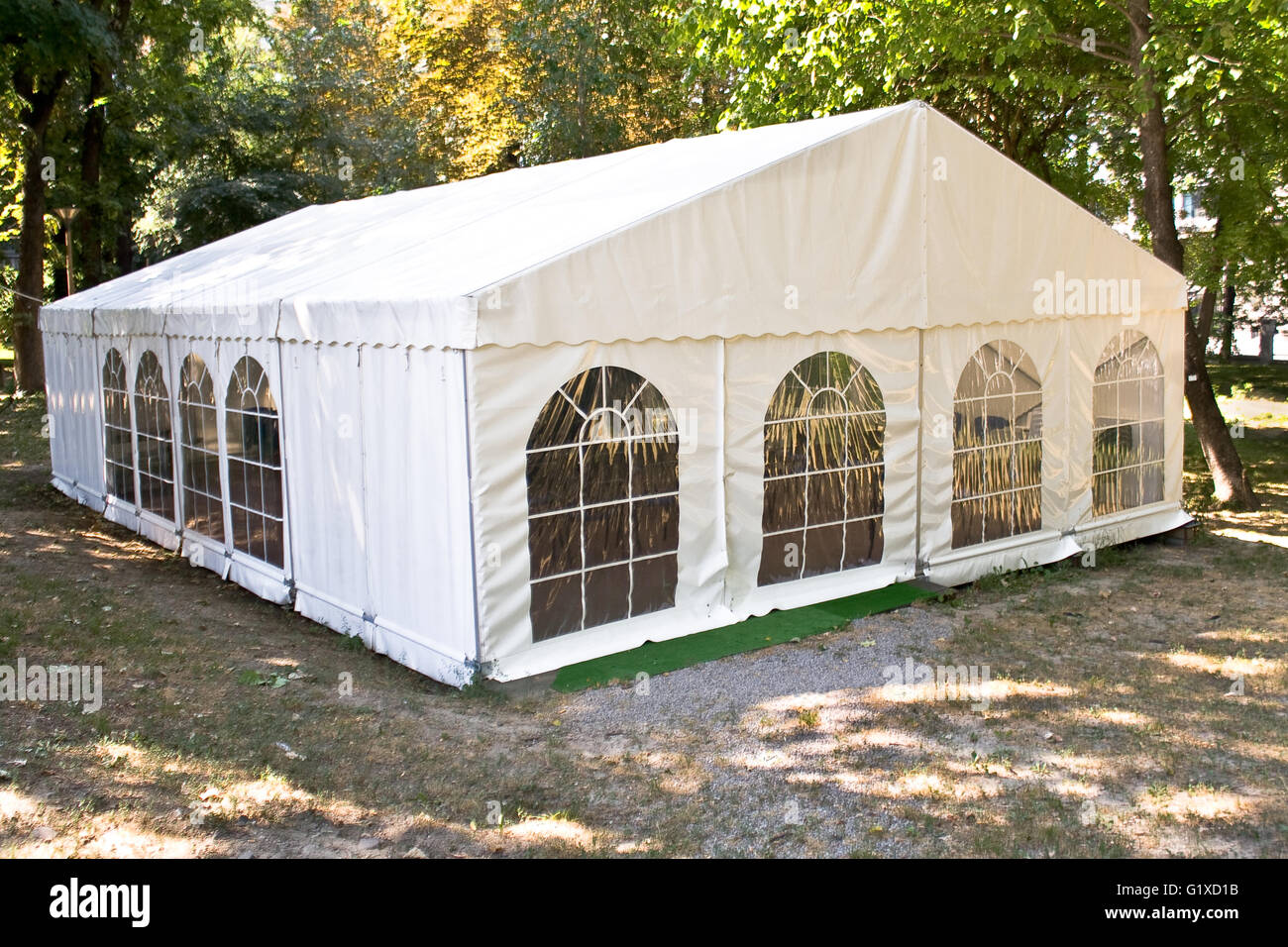 White big tent in forest & White big tent in forest Stock Photo Royalty Free Image ...