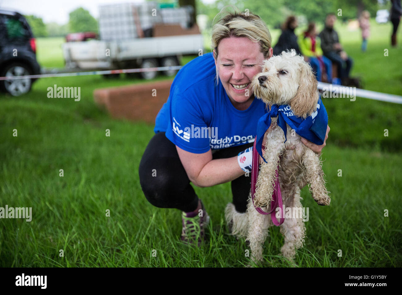 A Dog Competing In The Muddy Challenge Obstacle Run Windsor Great Park Aid Of Battersea Dogs And Cats Home Credit Mark