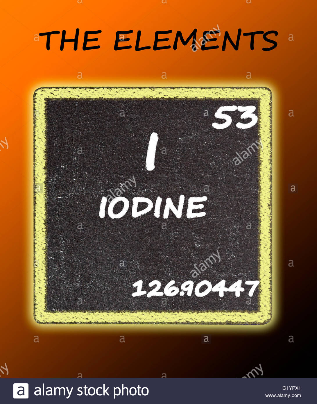 Iodine details from the periodic table stock photo royalty free iodine details from the periodic table gamestrikefo Choice Image