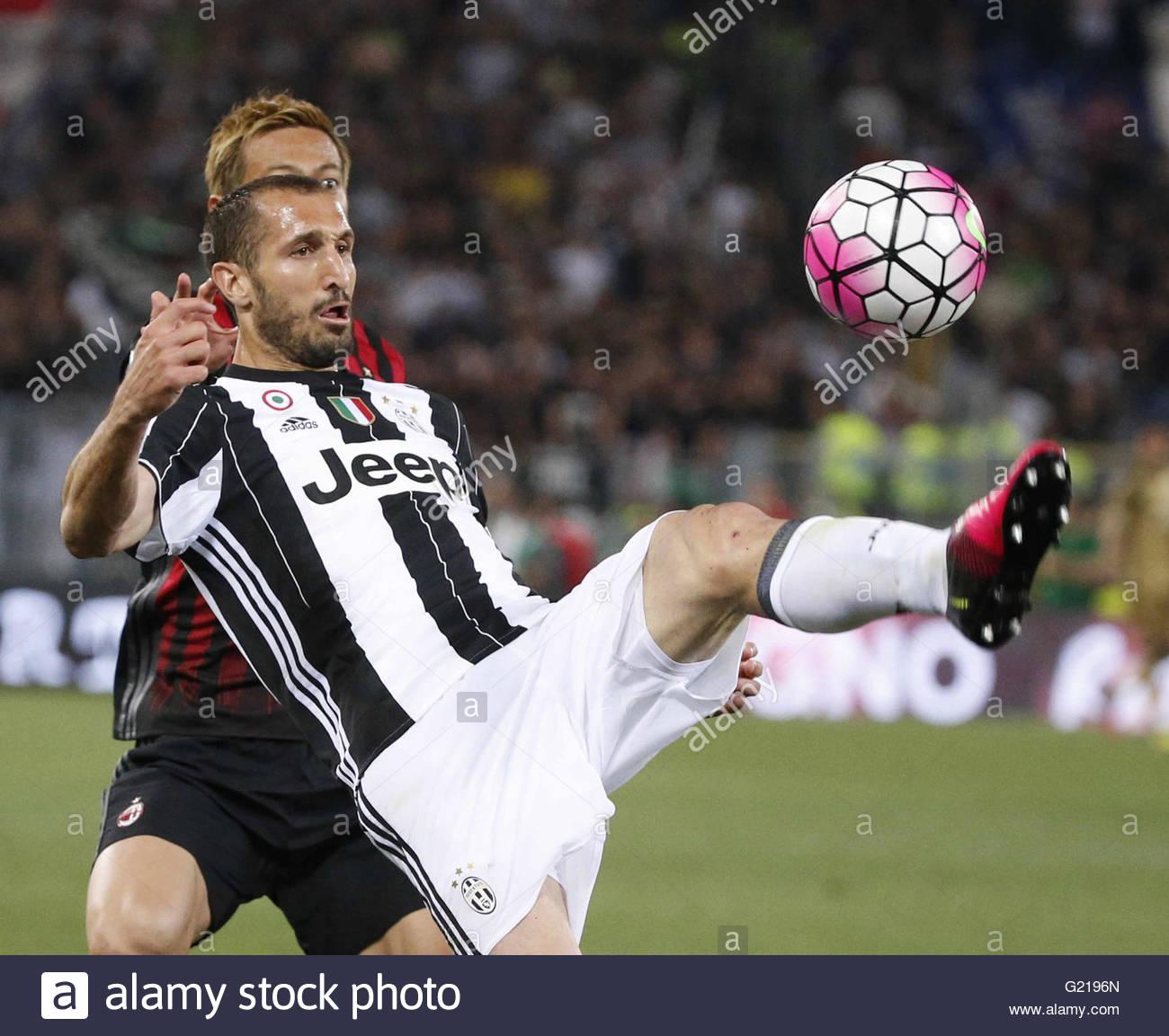 Rome Italy May 21st 2016 ITALY Rome Giorgio Chiellini of